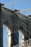 Brooklyn Bridge. Close up of Brooklyn Bridge Stock Images