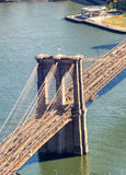 Brooklyn Bridge, aerial view of city skyline Royalty Free Stock Photos