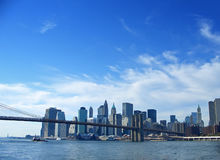 Free Brooklyn Bridge And Lower Manhattan, New York Stock Photos - 1722373