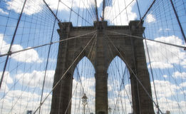 Brooklyn Bridge Architecture Stock Photo