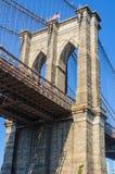 The Brooklyn Bridge from Dumbo, NYC, USA Stock Photography