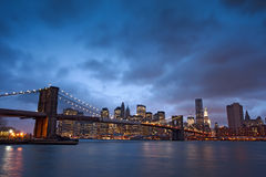 Free Brooklyn Bridge At Night Royalty Free Stock Photos - 18928068