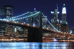 Free Brooklyn Bridge At Night Stock Photo - 1927580