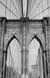 Brooklyn Bridge B&W Royalty Free Stock Photos
