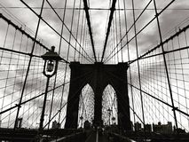 Brooklyn Bridge. In Black and White Royalty Free Stock Photo