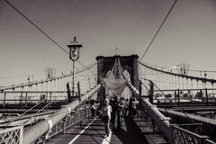 Brooklyn Bridge in Black & White Stock Photo