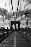 Brooklyn bridge, black and white Stock Photography