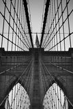 Brooklyn Bridge. Black and white Brooklyn Bridge, NY Stock Photo