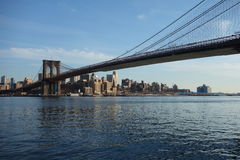 Brooklyn Bridge in New York City royalty free stock photography