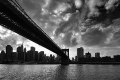Brooklyn Bridge bw Royalty Free Stock Photography
