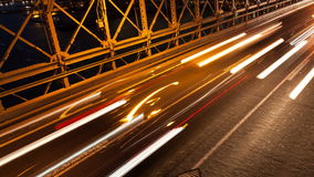 Brooklyn bridge car traffic light timelapse - New York - USA stock footage