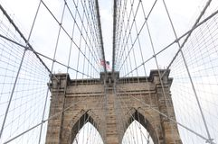 Brooklyn bridge close up 4. Brooklyn bridge close up in new york royalty free stock images