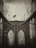 Brooklyn Bridge Detail in New York Stock Photography