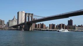 Brooklyn Bridge in New York City stock video