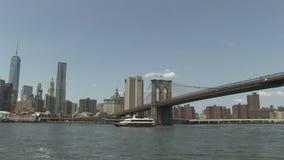 The Brooklyn Bridge stock video footage