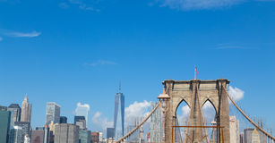 Brooklyn Bridge and Downtown Royalty Free Stock Photos