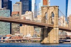 The Brooklyn Bridge from Dumbo, NYC, USA Royalty Free Stock Photo