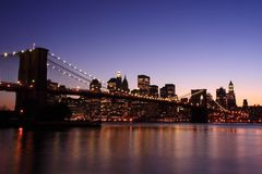 Brooklyn Bridge at dusk Royalty Free Stock Photography