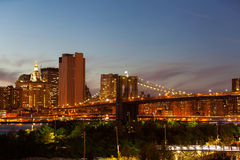 Brooklyn bridge dusk Stock Photo