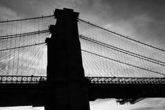 Brooklyn Bridge at dusk, New York Royalty Free Stock Image