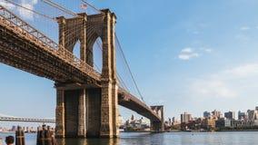 Brooklyn Bridge at Dusk, New York royalty free stock photo