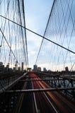 Brooklyn Bridge at dusk Royalty Free Stock Photo