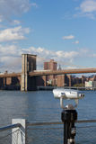 Brooklyn Bridge and East River Stock Images