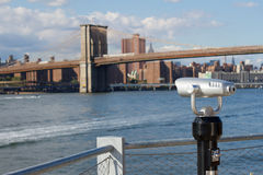 Brooklyn Bridge and East River Royalty Free Stock Photos