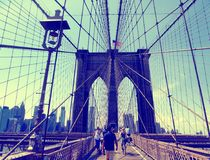 Brooklyn bridge exterior stock photography