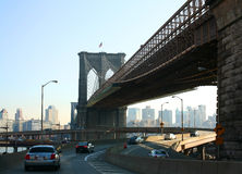 Brooklyn bridge and FDR Drive Royalty Free Stock Photography