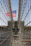 Brooklyn Bridge Flag Royalty Free Stock Photos