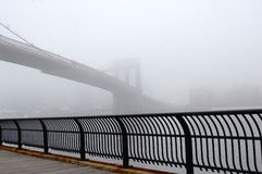 Brooklyn Bridge Fog Royalty Free Stock Photos