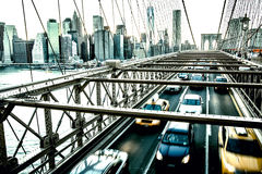 Brooklyn Bridge. Horizontall shot Royalty Free Stock Images