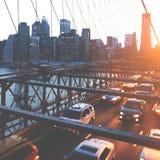 Brooklyn Bridge Landmark Architecture Metropolitan Concept Stock Image