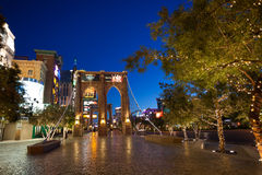 Brooklyn bridge on Las Vegas blvd morning photo Royalty Free Stock Image