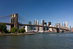 Brooklyn Bridge and lower Manhattan Royalty Free Stock Photography
