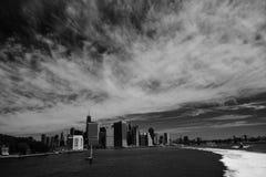 Brooklyn bridge and lower Manhattan, New York Stock Image