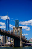 Brooklyn bridge and lower Manhattan, New York Royalty Free Stock Photography