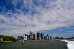 Brooklyn bridge and lower Manhattan, New York Stock Images