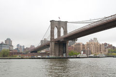 Brooklyn Bridge main structure, New York City Stock Photography