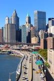 Brooklyn Bridge and Manhattan Royalty Free Stock Photography