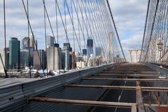 Brooklyn Bridge & Manhattan Stock Images