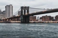 Brooklyn Bridge and Manhattan Royalty Free Stock Photos