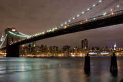 Brooklyn Bridge and Manhattan Royalty Free Stock Photography