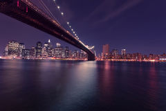 Brooklyn Bridge and Manhattan Stock Photo