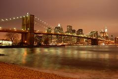 Brooklyn Bridge & Manhattan Royalty Free Stock Photography