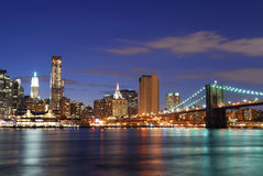 Brooklyn Bridge, Manhattan, New York City Stock Image