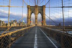 Brooklyn Bridge in Manhattan Stock Image