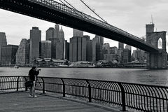 Brooklyn Bridge in Manhattan New York City Royalty Free Stock Photo
