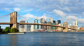 Brooklyn Bridge and Manhattan in New York City Royalty Free Stock Photo